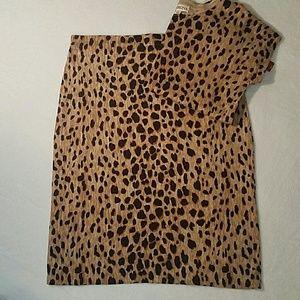 Merona Leopard Print Pencil Skirt and Sweater Set